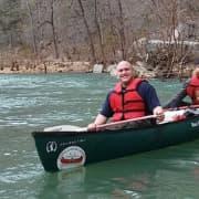 Man in a canoe